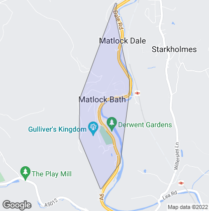Map of property in Matlock Bath