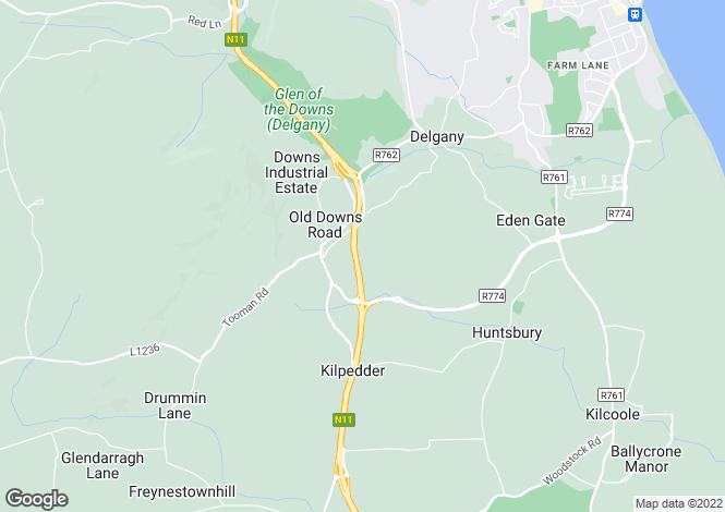Map for Willow Lodge, Drummin Lane, Delgany, Co Wicklow