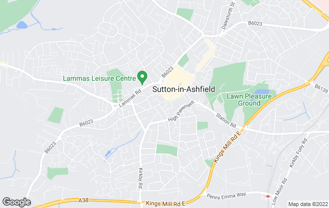 Map for Location, Sutton in Ashfield – Sales & Lettings