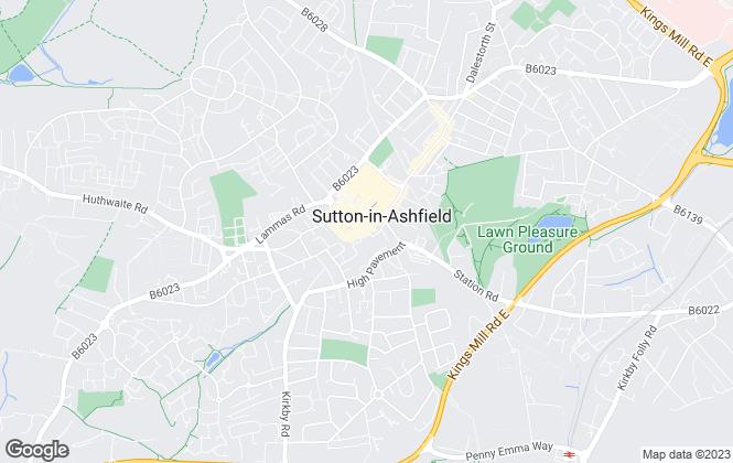 Map for Frank Innes, Sutton-In-Ashfield