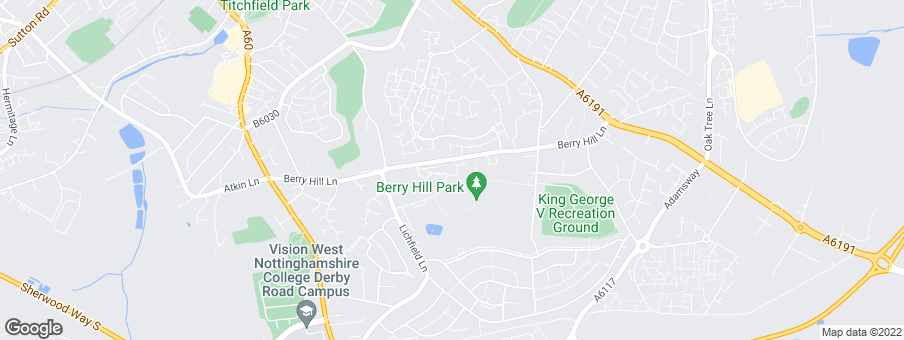 Map for Berry Hill Hall