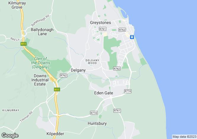 Map for 2 Delgany Oaks, Delgany, Co Wicklow
