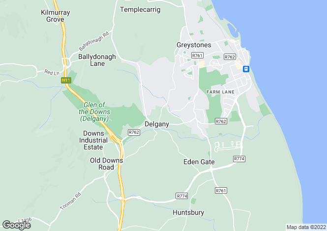 Map for Wicklow
