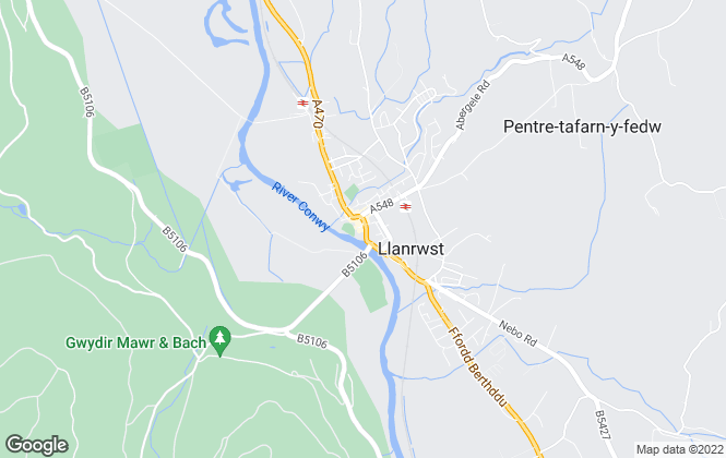 Map for Bob Parry, Llanrwst
