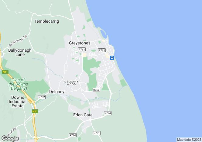 Map for Craglands, Portland Road North, The Burnaby, Greystones, Co Wicklow