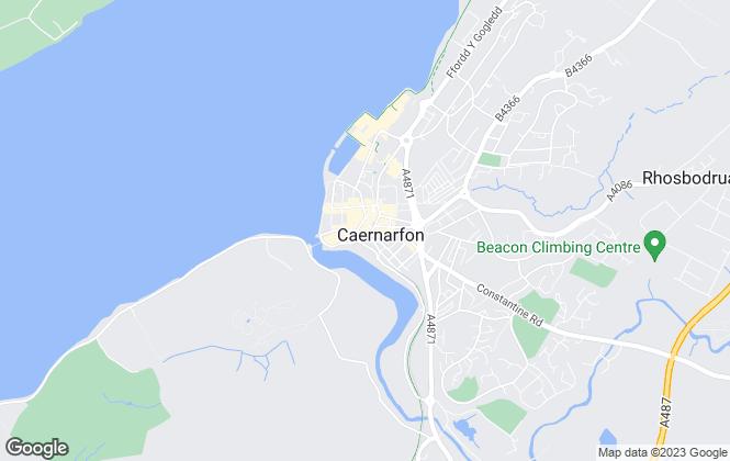 Map for Dafydd Hardy, Caernarfon