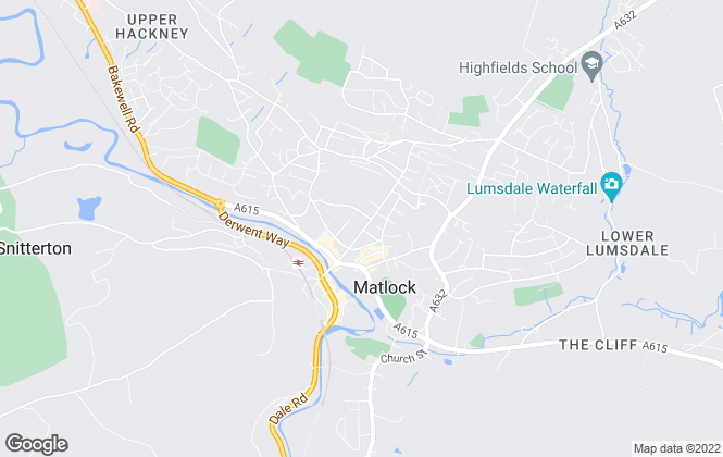 Map for Sally Botham Estates, Matlock