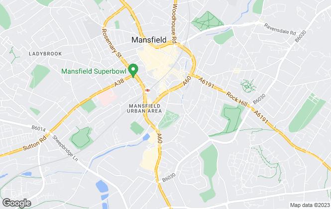 Map for Smith & Co Estates Ltd, Mansfield