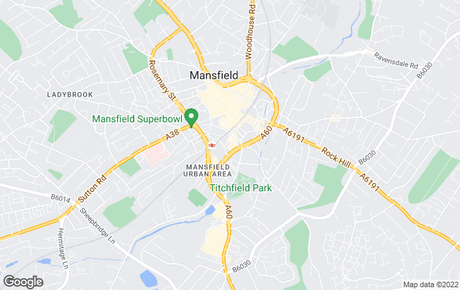 Map for Burchell Edwards, Mansfield