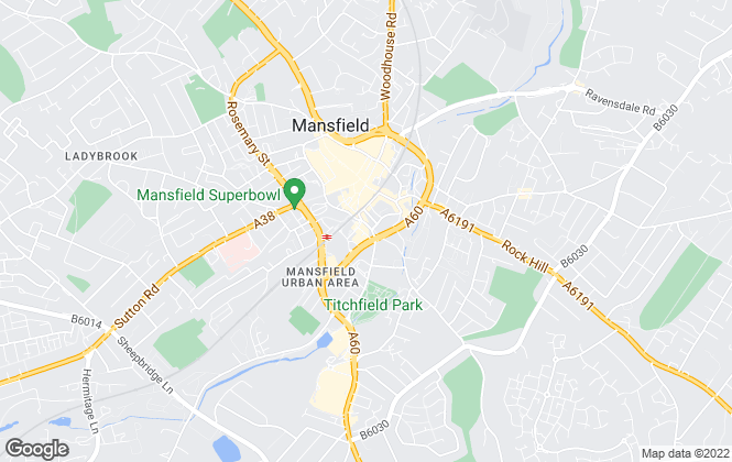 Map for Sell & Save, Mansfield