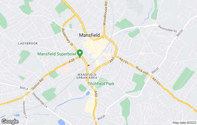 Map for Location, Mansfield Town Centre – Sales & Lettings