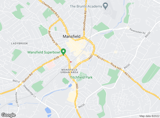 Map for Moss & Co, Mansfield - Lettings
