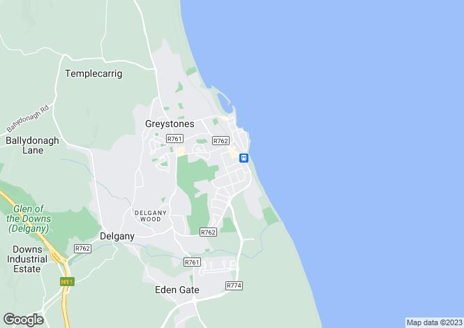Map for Arbutus, Killincarrig Road, Greystones, Co Wicklow