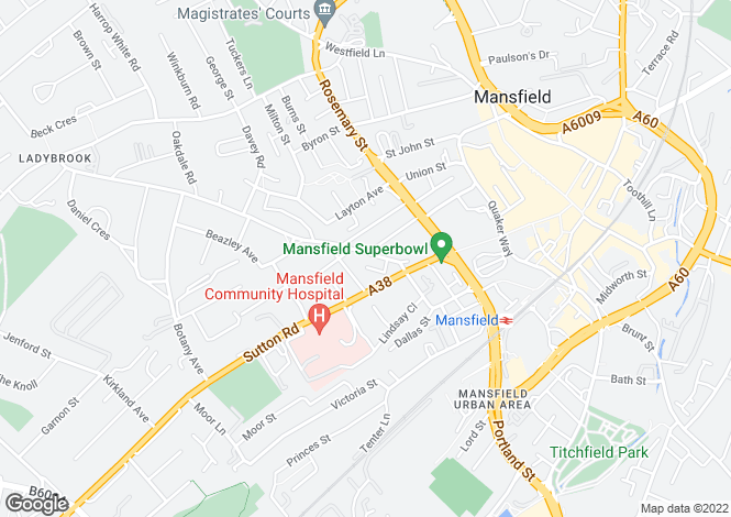 Map for Bancroft Lane, Mansfield, Nottinghamshire