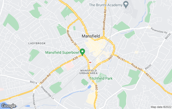 Map for Brightwater Homes, Mansfield