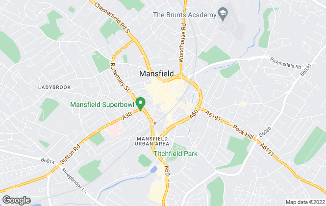 Map for Nottingham Property Services, Mansfield