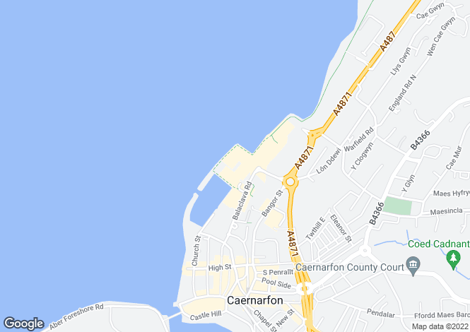 Map for Victoria Docks, Caernarfon