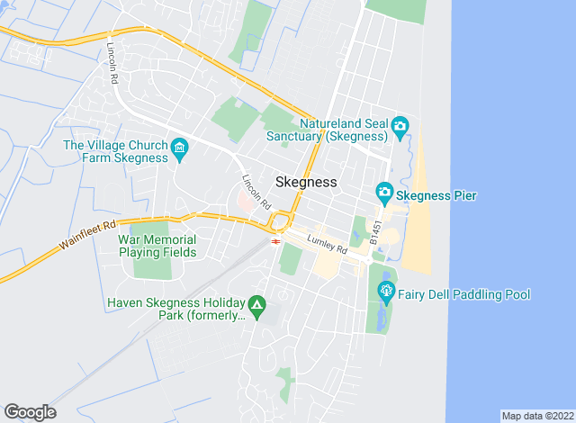 Map for Beam Estate Agents, Skegness