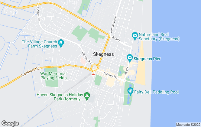 Map for Bairstow Eves, Skegness