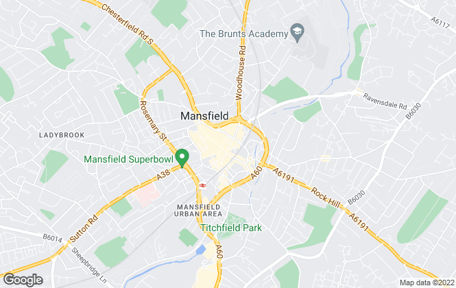 Map for Just Move Estate Agents, Mansfield