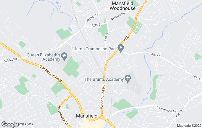 Map for Rooftop Estates & Lettings, Mansfield