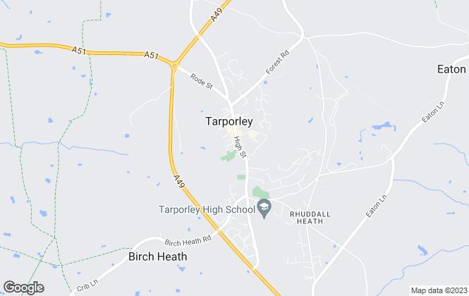 Map for Hinchliffe Holmes, Tarporley