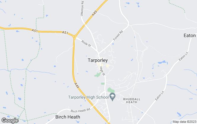 Map for Cheshire Lamont, Tarporley