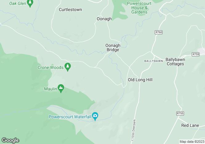 Map for Glenalla, Bahana, Enniskerry, Co. Wicklow, A98 HD58