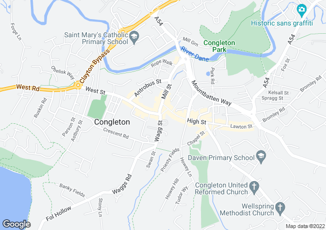 Map for LITTLE STREET, CONGLETON