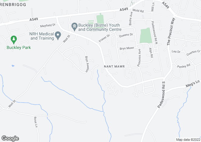 Map for Nant View Court, Buckley, Flintshire