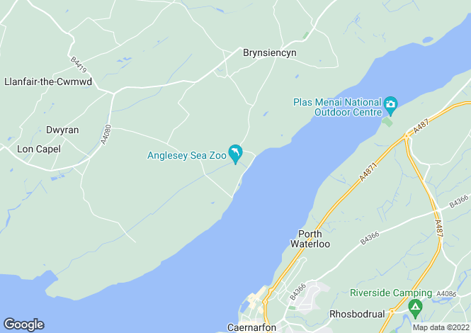 Map for Brynsiencyn, Isle of Anglesey, North Wales