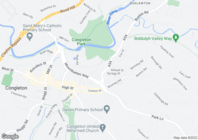 Map for MILLENNIUM HOUSE, FOUNDRY BANK, CONGLETON