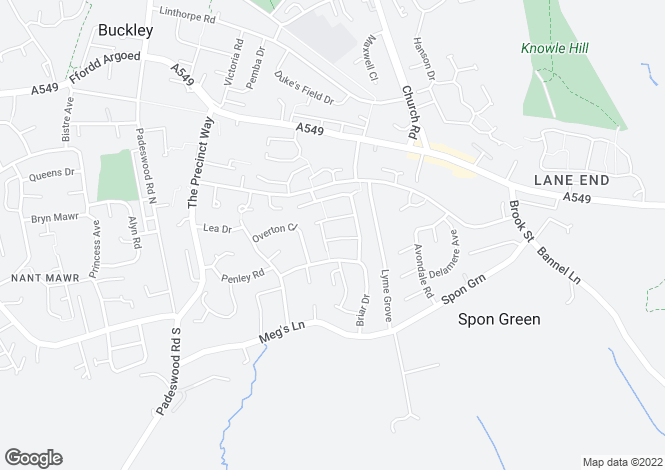 Map for Laurel Drive, Buckley, Flintshire