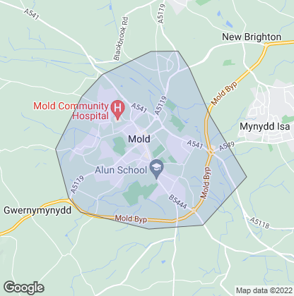 Map of property in Mold