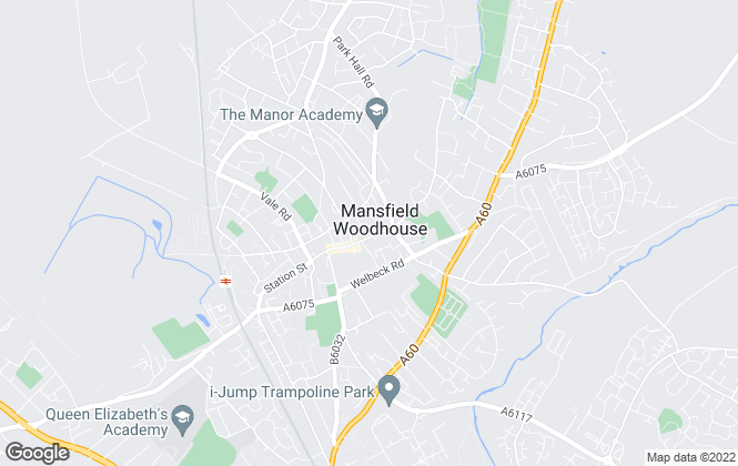Map for Bairstow Eves, Mansfield Woodhouse