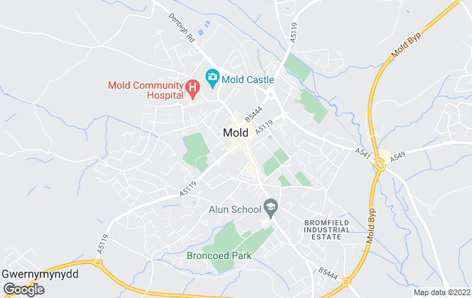Map for Town & Country Estate Agents, Mold