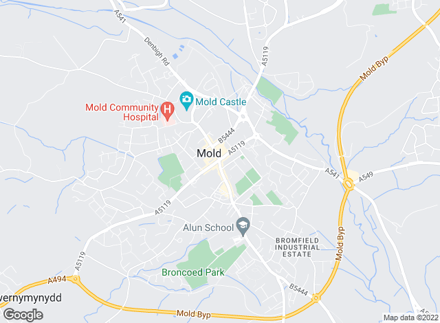 Map for Beresford Adams, Mold