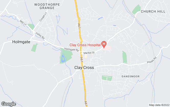 Map for Pinewood Properties, Clay Cross