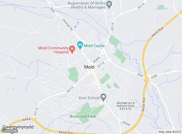 Map for Cavendish Rentals Ltd, Mold - Lettings