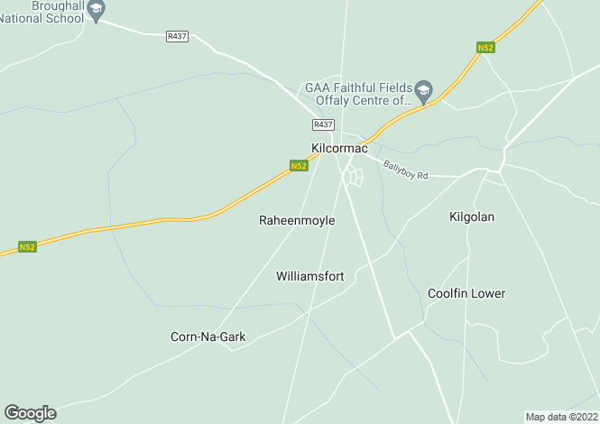 Map for Raheenmoyle, Kilcormac, Offaly