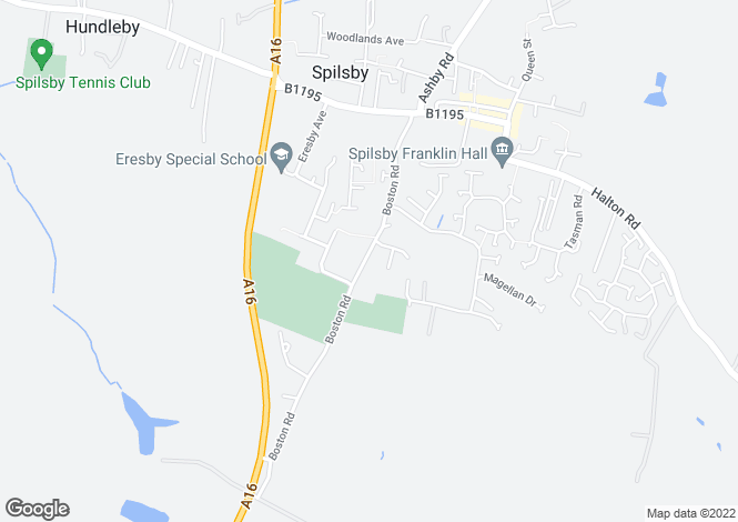 Map for Boston Road, Spilsby