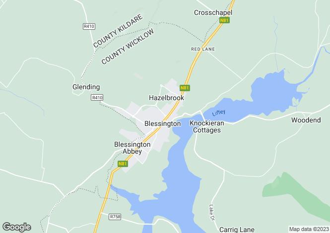 Map for Unit 1 New Town Centre, Blessington, Blessington, Wicklow