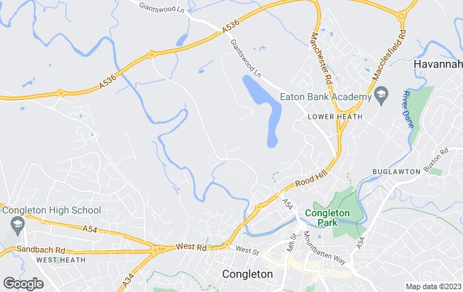 Map for Gladman Developments Ltd, Congleton