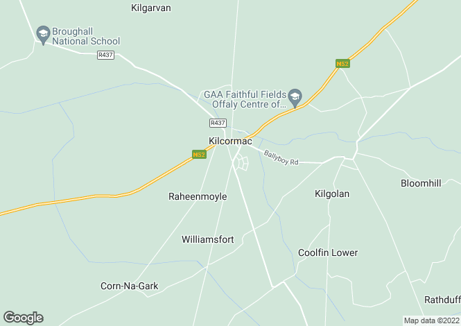 Map for Roselawn, Kinnity Road, Kilcormac, Co Offaly