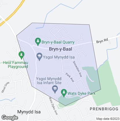 Map of property in Bryn-Y-Baal