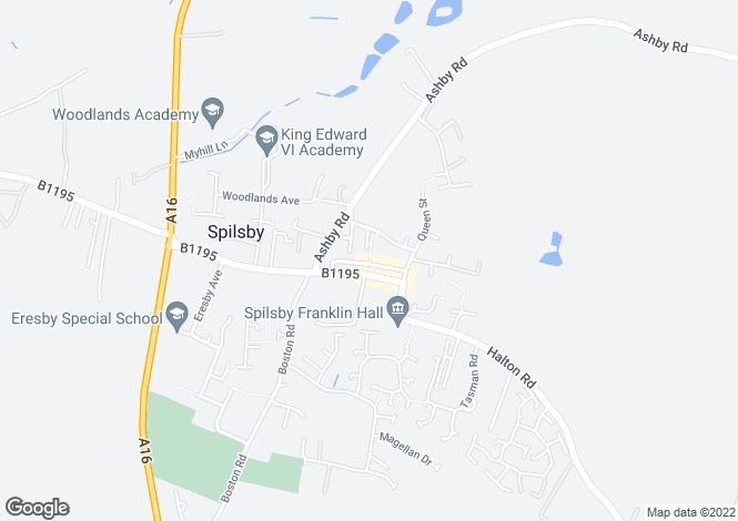 Map for High Street, Spilsby, PE23