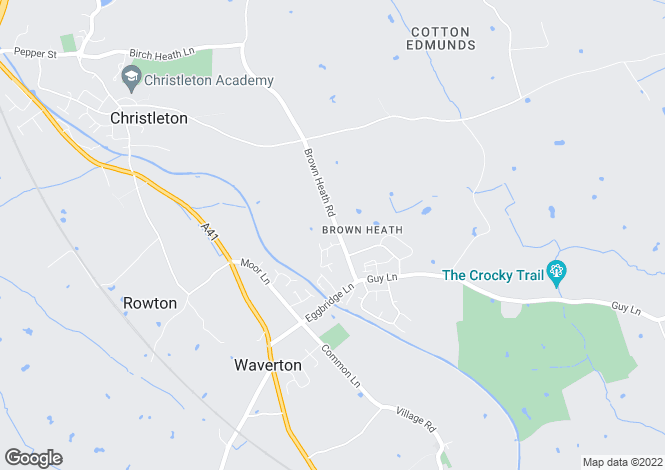 Map for Brown Heath Road, Christleton
