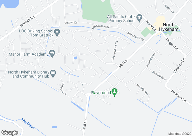 Map for Dorchester Way, North Hykeham, Lincoln, Lincolnshire, LN6