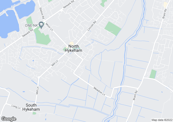 Map for Meadow Close, North Hykeham, Lincoln, Lincolnshire, LN6