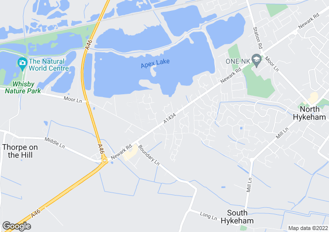 Map for Cornflower Way, North Hykeham, Lincoln, Lincolnshire, LN6
